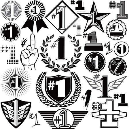 #1 Collection Stock Vector - 10233414