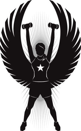 strong: Fitness Angel Illustration