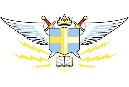 Prayer Warrior Crest Vector