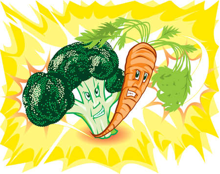 powerful: Powerful Veggies Illustration