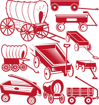wagon wheel: Wagon Collection Illustration