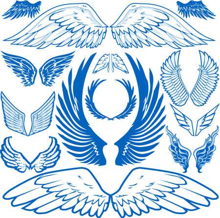 engel tattoo: Fl�gel-Auflistung