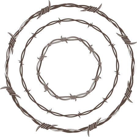 Barbed Wire Rings Stock Vector - 10444297