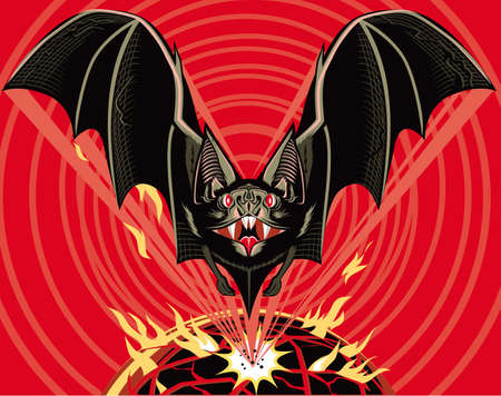 murcielago: BAT Out Of le-conocer-donde Vectores