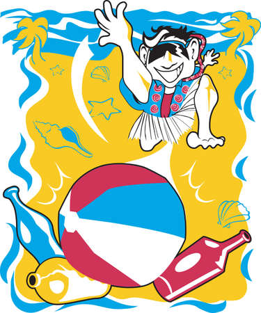 Beach Bowling Stock Vector - 10444281