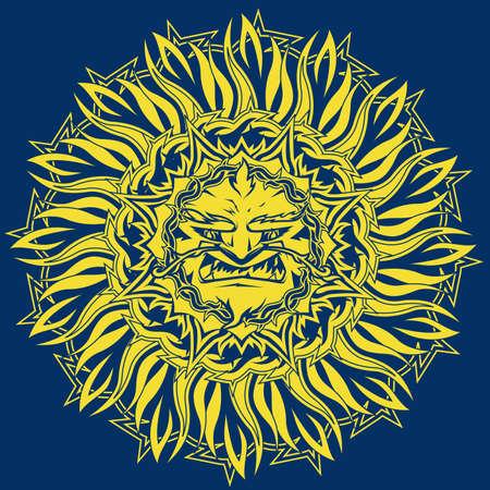 Angry Sun Stock Vector - 11324579