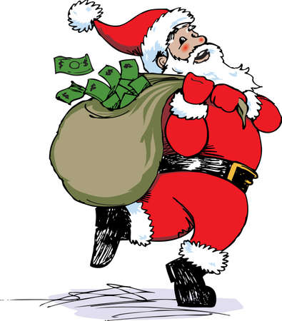 Santa Claus Cash Stock Vector - 11324613