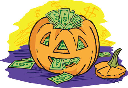 cash: Jack O Lantern Cash Illustration