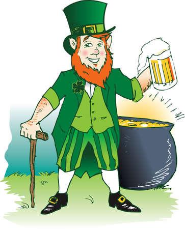 Leprechaun's Ale Stock Vector - 11324618
