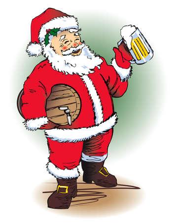 saint nick: Ale di Babbo Natale Vettoriali