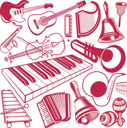 Musical Instrument Collection Vector