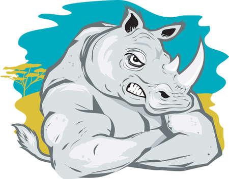 힘든 코뿔소