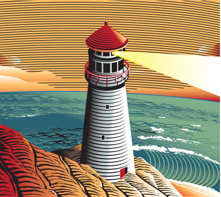 Summer Lighthouse Vector