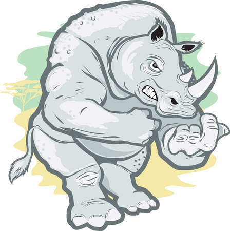 nashorn: W�tend Rhino Illustration