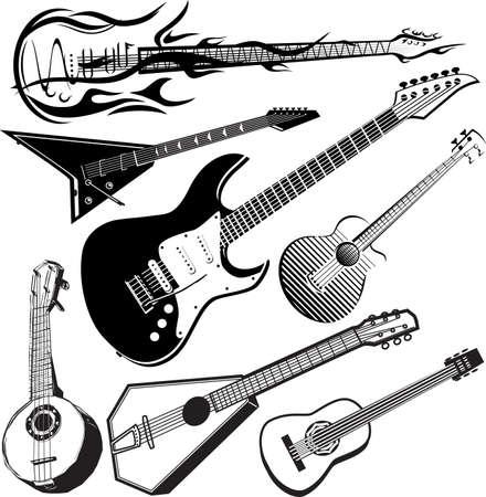 guitarra: Guitarra Colecci�n Vectores