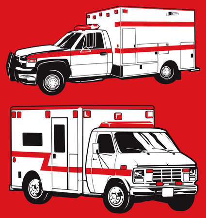 with two: Two Ambulances