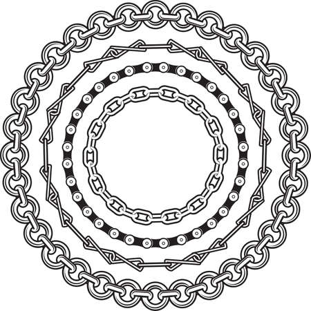 Chain Rings Banco de Imagens - 12379757