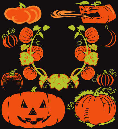 Pumpkin Collection Stock Vector - 12890991