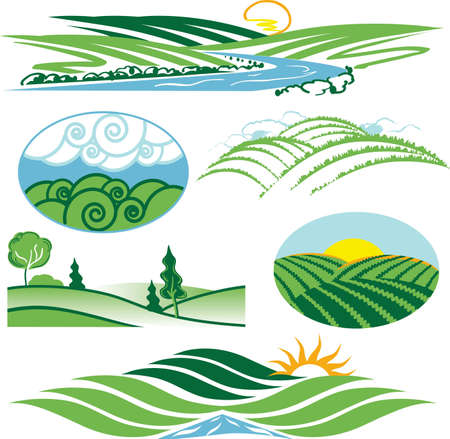 Rolling Green Hills Stock Vector - 12890995