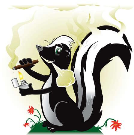 stinktier: Stinky Skunk Rauchen