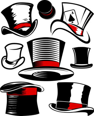 red hat: Top Hat Collection Illustration