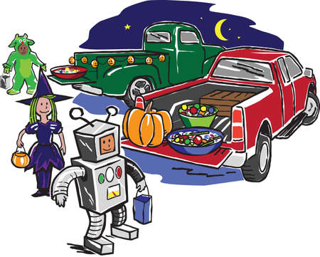 Truck or Treat Vector