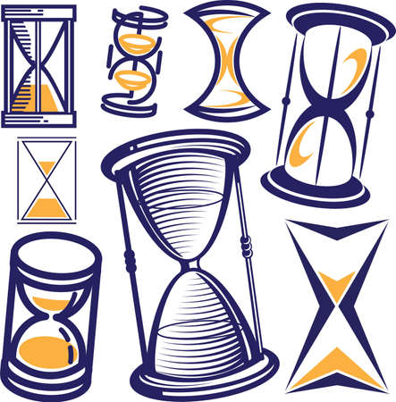 Hourglass Collection Stock Vector - 12890996
