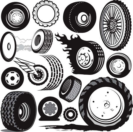 Tire Collection Stock Vector - 12890979