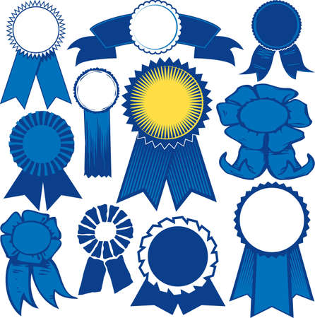Blue Ribbon Collection Vector