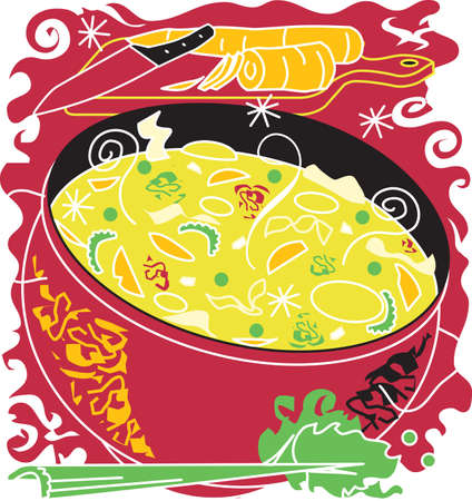 Chicken Noodle Soup Vector