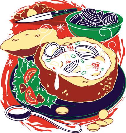 chowder: Clam Chowder Illustration