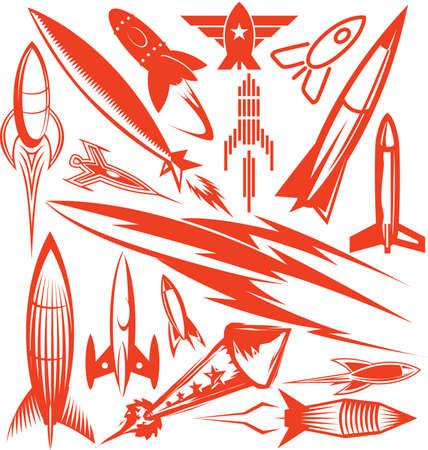 misil: Rocket Colecci�n Vectores