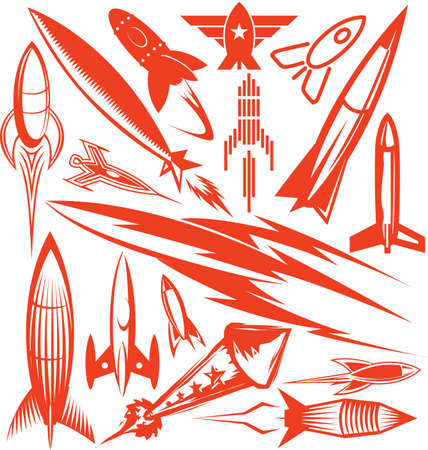 Rocket Collection  Stock Illustratie