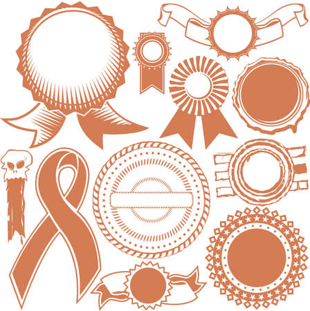 Ribbon and Seal Collection Vector