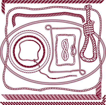 rope border: Rope Collection Illustration