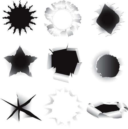 Torn Holes Vector