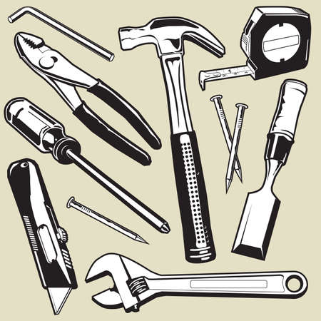 alicates: Herramientas de mano Vectores