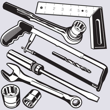 Hand Tools Stock Vector - 12891050