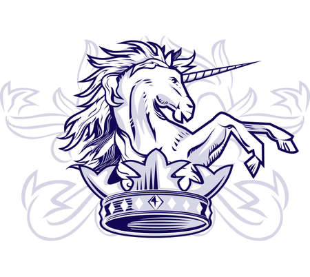 rampant: Unicorn Crown Illustration