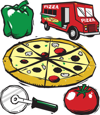 Woodcut Pizza Collection
