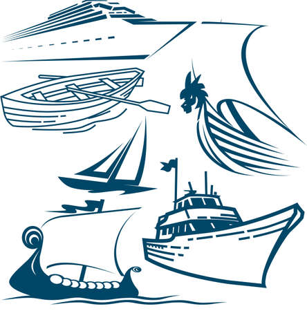 Ships Collection Vector