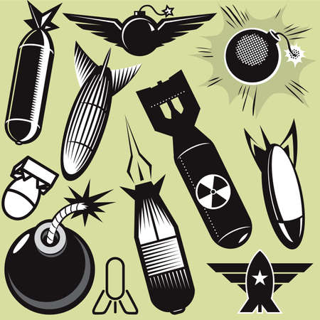 Bomb Collection Stock Vector - 13026598