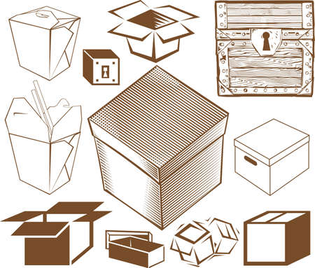 Boxe Sammlung Standard-Bild - 13026625