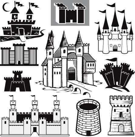 castle tower: Castle Collection Illustration