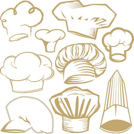 요리사 모자 컬렉션
