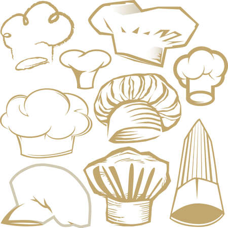 Chef Hat Collection Stock Vector - 13026630
