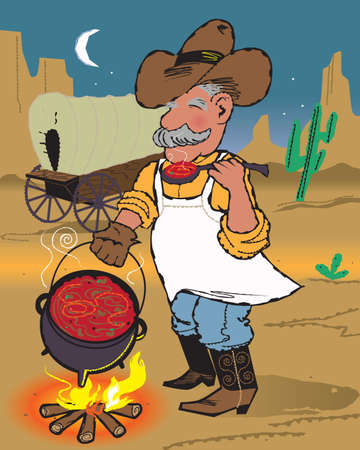 Chuckwagon Chili Vector