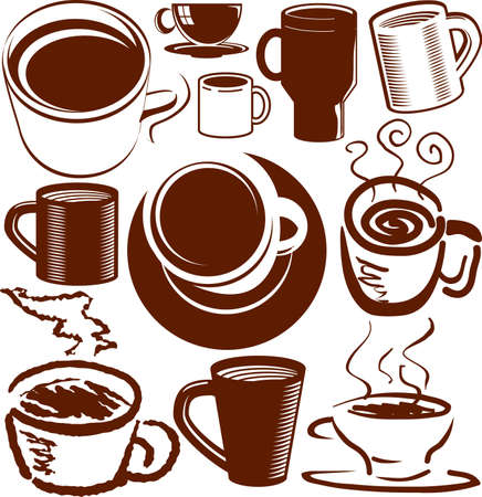 Coffee Cup Collection Stock Vector - 13026600