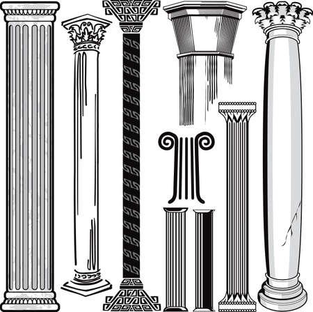 columnas romanas: Columna Colección Vectores