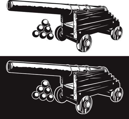고대 대포 일러스트